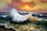 CHENPAT1494 100% hand painted oil painting ocean sea wave seascape art on canvas