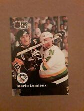 1991-92 Pro Set Mario Lemieux Hockey Card #194. Pittsburgh Penguins. FRENCH.