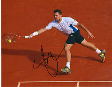 "STANISLAS WAWRINKA AUTOGRAPHED SIGNED 8"" X 10"" TENNIS PHOTO W/ COA"