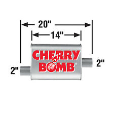 MUFFLER - CHERRY BOMB TURBO, SM. OVAL-O/C 20IN OAL, 2IN