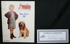 Annie Official Movie Souvenir Program - Signed with Remark by Aileen Quinn