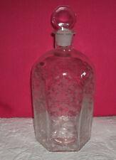 Apothekerflasche mit Ätzmotiven - guter Zustand - 20 cm hoch - 6 eckig
