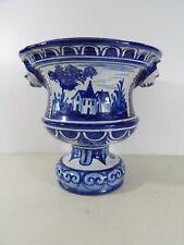 Cache-pot vase Medicis faience de Nevers Antoine MONTAGNON fin XIXe