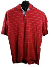 Tommy Hilfiger Polo sz L Crest Flag Logo Red with blue and white stripes