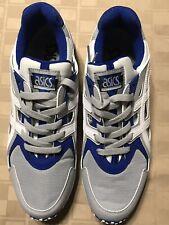 Asics Gel SAMPLE/NEW Men's Size 9 Leather Mesh Blue Gray White GRIP Running Shoe