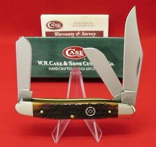 Case XX 6347 SS Barb Wire Dark Amber Stockman 2003 Knife Orig Box Item #03408