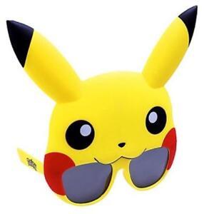 Pikachu Sunstaches Glasses Pokemon Fancy Dress Up Halloween Costume Accessory