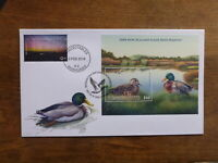 NEW ZEALAND 2018 GAME BIRDS $10 RATE DUCK MINI SHEET FDC FIRST DAY COVER