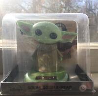 Star Wars Mandalorian The Child Baby Yoda Solar Powered Bobble Head Sealed New