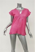Calypso St. Barth Top Lisette Pink Metallic Embroidered Size Extra Small NEW