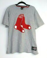 Majestic Athletic Men's MLB Red Socks Grey T-Shirt Size XL