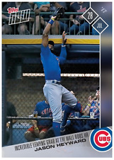 2017 Topps Now #409 INCREDIBLE LEAPING GRAB AT THE WALL ROBS HR - JASON HEYWARD