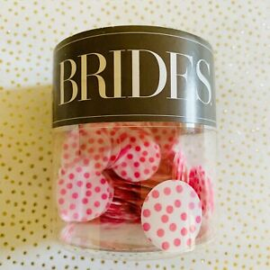 Brides By Gartner Studios Pink Pattern Vellum Paper Confetti, 1 oz Polka Dots