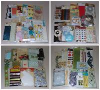 Huge Prima Embellishment Lot - Flowers, Bling, Stickers, Brads, Trim, Card Kit