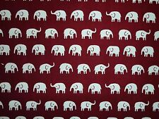El aclaramiento FQ elefantes tela animales Borgoña