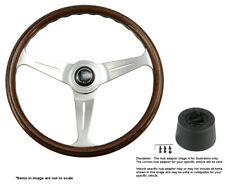 Nardi Steering Wheel Classic Wood Polished 390mm with Hub for Chevrolet Pick-Up