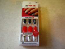 1 ImPress Press-On 30 Nails Bells & Whistles Red White Blue Anchor Nautical