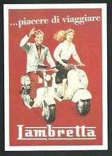 Innocenti Lambretta : piacere di viaggiare - riproduzione moderna su cartolina