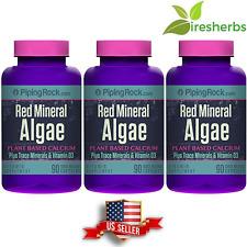 RED MINERAL ALGAE - AQUAMIN PLANT BASED CALCIUM - 270 CAPSULES - 3 BOTTLES LOT