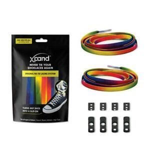 XPAND | RAINBOW FLAT LACES - MAKE ANY SHOES SLIP-ON!