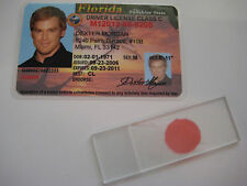 Dexter Morgan Driver's License & Microscope Blood Slide - Prop - Cosplay
