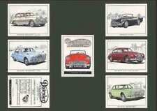 Motor Cars/Bikes Confectionary/Gum Card Collectable Trade Cards