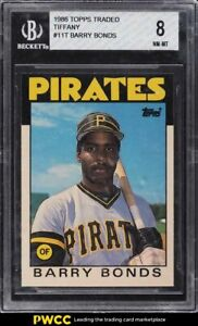 1986 Topps Traded Tiffany Barry Bonds ROOKIE RC #11T BGS 8 NM-MT