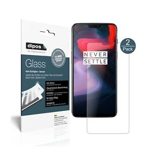 2x Protection pour OnePlus 6 ecrán mat Verre souple Film Protecteur 9H dipos