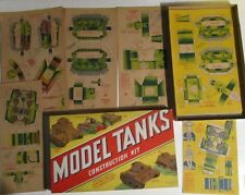 Vinatge ORIGINAL WWII World War II Model tanks Construction kit Toy playset