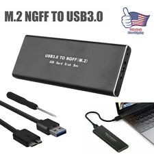M.2 SATA SSD to USB 3.0 External SSD Reader Converter Adapter Enclosure w/ UASP