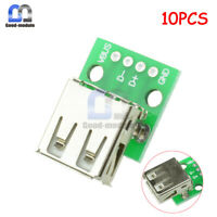 10x Mini Type A Female USB To DIP 2.54MM PCB Board Adapter Converter For Arduino