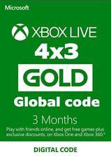 XBOX LIVE GOLD 3 Meses Suscripción - 4x3 COMPRA 3 REGALO 1! (ver descr.)