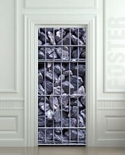 Door Wall STICKER coal stones