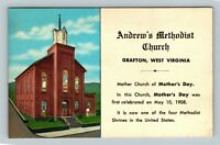Andrew's Methodist Church, Vintage Grafton West Virginia Postcard