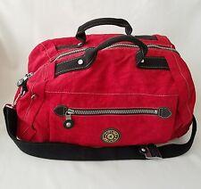 Kipling Sling Duffel Backpack Red Nylon Medium Gym Travel Bag Duffle