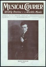 1918 Mayo Wadler photo with violin Musical Courier framing cover April 18 1918