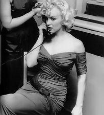 MARILYN MONROE HAIR DRESSING ON THE PHONE   (1) RARE 4x6 FINE ART  PHOTO