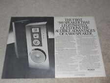Sony Speaker Ad, 1980, SS-U80, Specs, Article, 2 pg