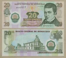 HONDURAS - 20 lempiras  POLYMER  P95  Uncirculated ( Banknotes )