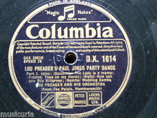 "78rpm 12"" lou preager PAUL JONES PARTY DANCE , from the palais"