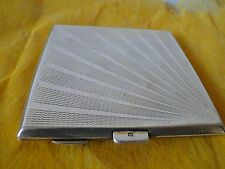 CIGARETTE/ CARD CASE, STERLING SILVER LONDON 1927 ART DECO ENGINE TURN MARKED