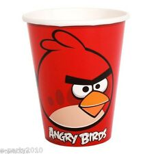 ANGRY BIRDS 9oz PAPER CUPS (8) ~ Birthday Party Supplies Tableware Red