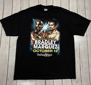 Bradley Vs Marquez Boxing World Welterweight Champ Vegas Mens Black T Shirt XL