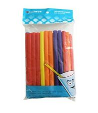 Milkshake Straws Extra Wide Smoothies Multicolored Kizmos Bpa Free 50count