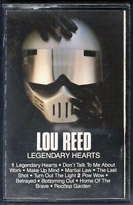 Lou Reed - Legendary Hearts - COMPACT CASSETTE [16] (EX/EX)