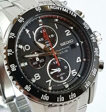 SEIKO SPORTURA NEW MENS SOLAR CHRONOGRAPH ALARM WATCH SSC271/SSC271P1