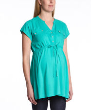 3e9c8a83163 Maternity Blouse Size 16 Jade Green Button Front Tunic Long Nursing Top