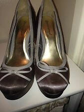 LADIES ATMOSPHERE TAUPE STILLTO HIGH HEEL SHOES SIZE 6/39 - NEW