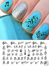 Sheet Music Notes Nail Art Waterslide Decals Set #2 - Salon Quality!