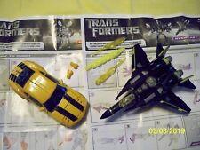 2 Used Hasbro Transformers Overcast Decepticon and Bumalebee Autobot